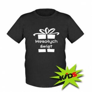 Koszulka dziecięca Wesołych świąt prezent