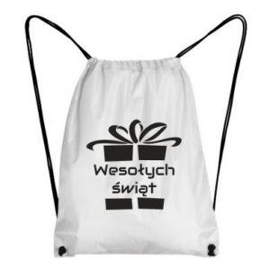 Plecak-worek Wesołych świąt prezent