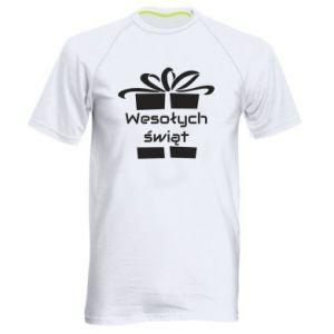 Koszulka sportowa męska Wesołych świąt prezent