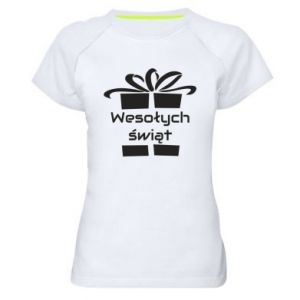 Women's sports t-shirt Happy holidays gift