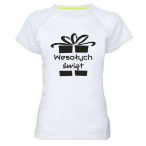 Koszulka sportowa damska Wesołych świąt prezent
