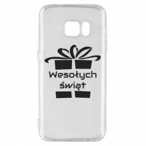 Etui na Samsung S7 Wesołych świąt prezent