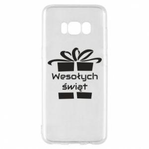 Etui na Samsung S8 Wesołych świąt prezent