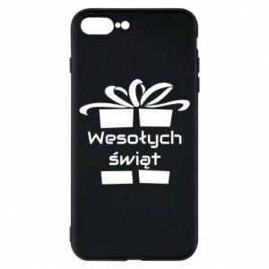 Etui na iPhone 8 Plus Wesołych świąt prezent