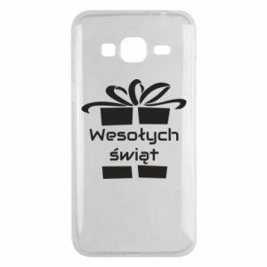 Etui na Samsung J3 2016 Wesołych świąt prezent