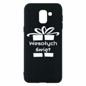 Etui na Samsung J6 Wesołych świąt prezent