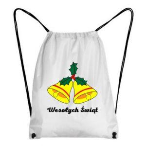 Plecak-worek Wesołych Świąt. Boże Narodzenie