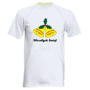 Men's sports t-shirt Merry Christmas... - PrintSalon