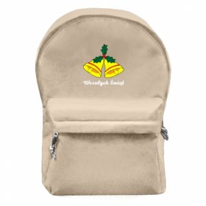 Backpack with front pocket Merry Christmas... - PrintSalon