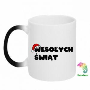 Chameleon mugs Merry Christmas