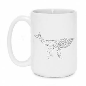 Kubek 450ml Whale outline