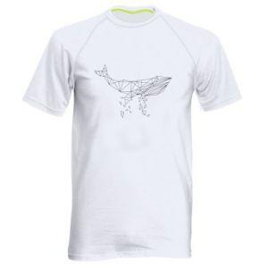 Męska koszulka sportowa Whale outline