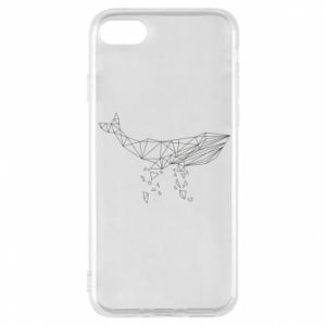 Phone case for iPhone 8 Whale outline - PrintSalon