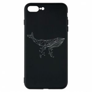 Phone case for iPhone 8 Plus Whale outline