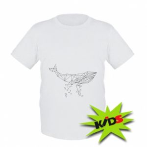 Kids T-shirt Whale outline