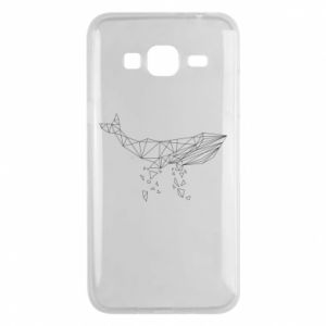 Phone case for Samsung J3 2016 Whale outline