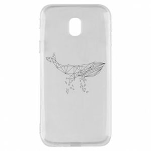 Phone case for Samsung J3 2017 Whale outline