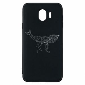 Phone case for Samsung J4 Whale outline