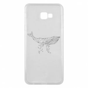 Phone case for Samsung J4 Plus 2018 Whale outline