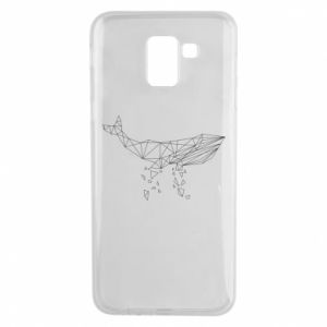 Phone case for Samsung J6 Whale outline