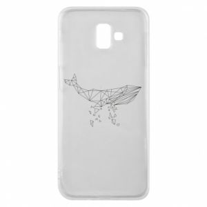 Phone case for Samsung J6 Plus 2018 Whale outline