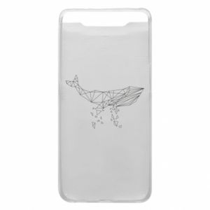 Phone case for Samsung A80 Whale outline