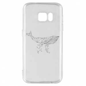 Phone case for Samsung S7 Whale outline