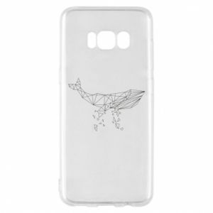 Phone case for Samsung S8 Whale outline