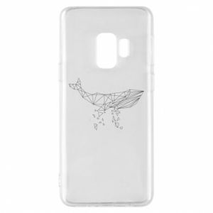 Phone case for Samsung S9 Whale outline