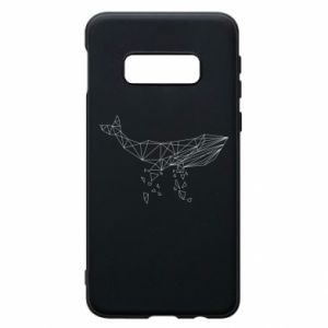 Phone case for Samsung S10e Whale outline