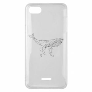 Phone case for Xiaomi Redmi 6A Whale outline