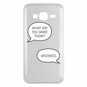 Etui na Samsung J3 2016 What did you make today? Mistakes.