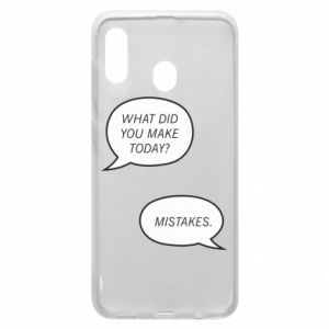 Etui na Samsung A30 What did you make today? Mistakes.