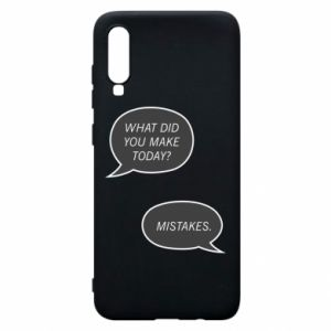 Etui na Samsung A70 What did you make today? Mistakes.