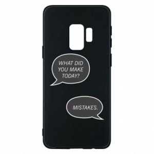 Etui na Samsung S9 What did you make today? Mistakes.