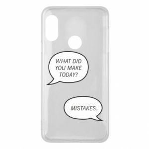 Etui na Mi A2 Lite What did you make today? Mistakes.
