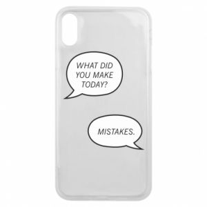 Etui na iPhone Xs Max What did you make today? Mistakes.
