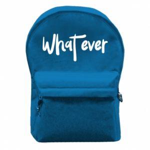 Plecak z przednią kieszenią What ever