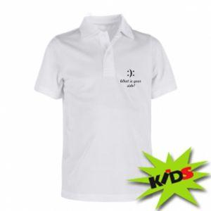 Dziecięca koszulka polo What is your side?