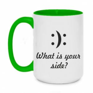 Two-toned mug 450ml What is your side?