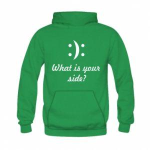 Bluza z kapturem dziecięca What is your side?