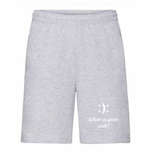 Men's shorts What is your side?