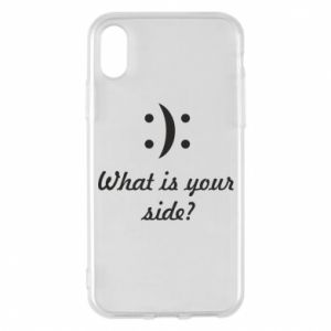 Etui na iPhone X/Xs What is your side?