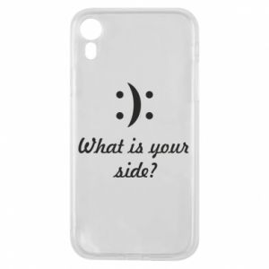 Etui na iPhone XR What is your side?