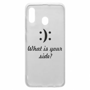 Etui na Samsung A20 What is your side?