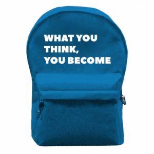 Plecak z przednią kieszenią What you think you become