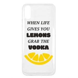 Xiaomi Redmi 9a Case When life gives you a lemons grab the vodka