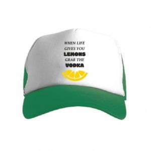 Kid's Trucker Hat When life gives you a lemons grab the vodka