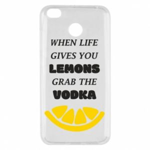 Xiaomi Redmi 4X Case When life gives you a lemons grab the vodka
