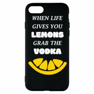 iPhone SE 2020 Case When life gives you a lemons grab the vodka